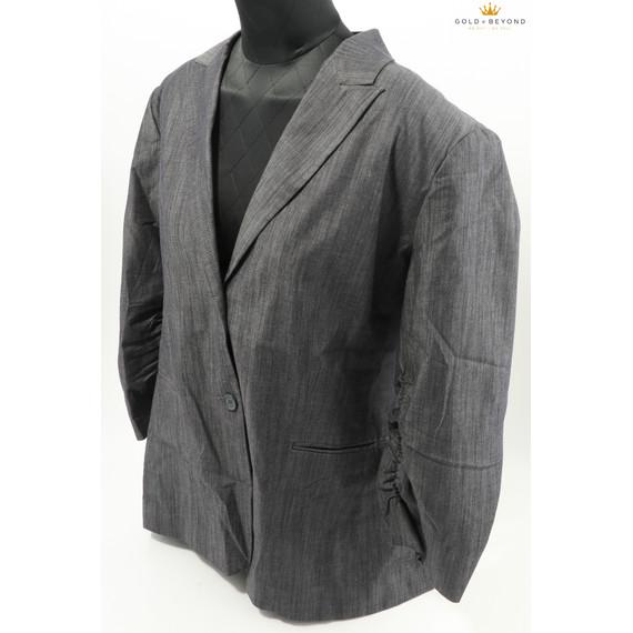 Calvin Klein Women's Two Button Charcoal Melange Suit Jacket