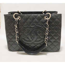 Chanel GST Grand Shopper Tote Black Caviar Leather Shoulder Bag 2009