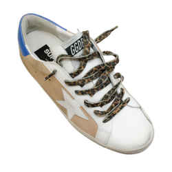 Golden Goose Deluxe Brand Tan / White Superstar Sneakers