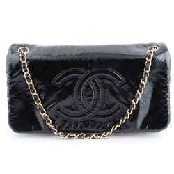 Chanel Small Rock & Chain Flap Shoulder Bag Black One Size Authenticity Guaranteed