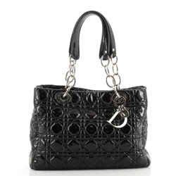 Soft Chain Tote Cannage Quilt Patent Small