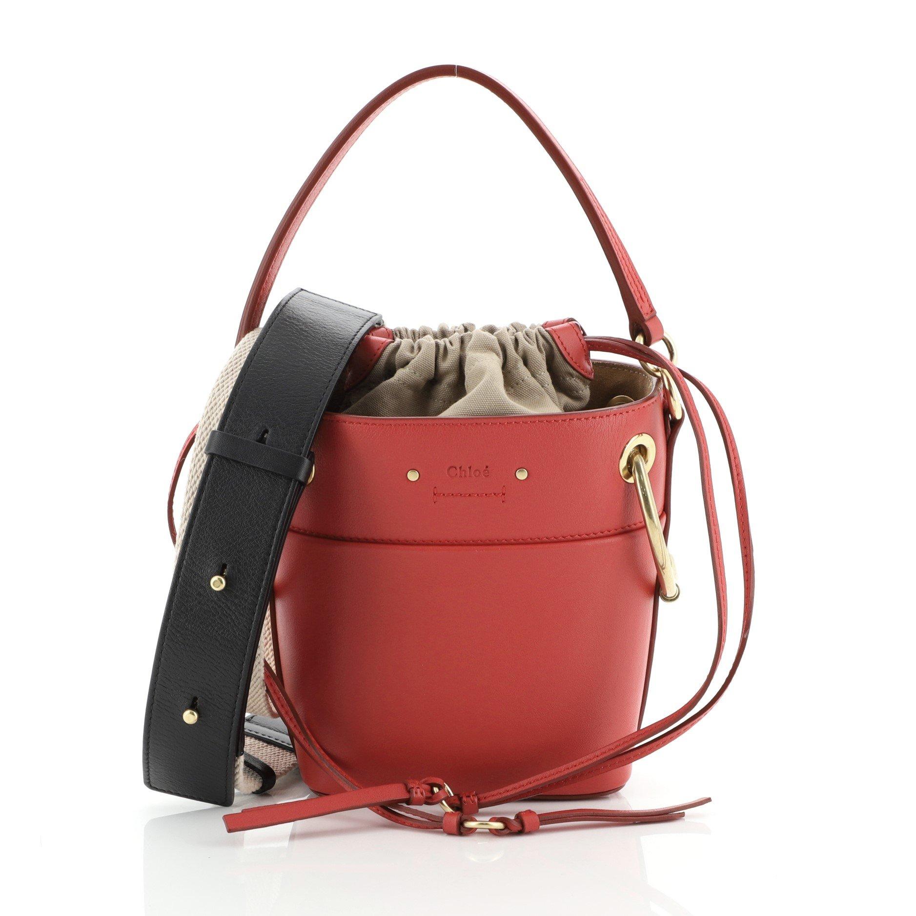 Roy Bucket Bag Leather Mini Leprix