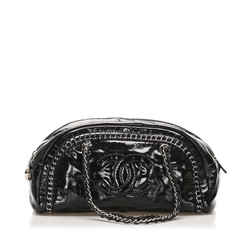 Black Chanel CC Patent Leather Shoulder Bag