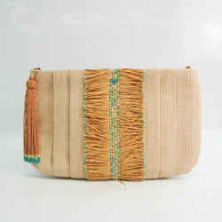 Anya Hindmarch Women's Straw Clutch Bag Beige BF528217