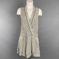 PROENZA SCHOULER Size 6 White & Green Silk Abstract Silk Dress