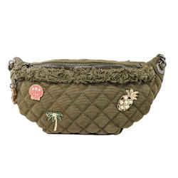 Chanel Coco Cuba Khaki Charms Waist Bag