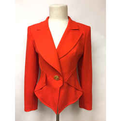 Vintage CHRISTIAN LACROIX Electric-Red Wool Peplum Jacket
