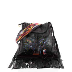 Flap Messenger Limited Edition Niki de Saint Phalle Fringe Leather Large