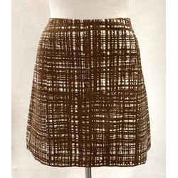 Authentic Prada Brown/white Skirt Sz 14