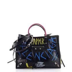 Papier Graffiti A6 Zip Around Classic Studs Bag Leather