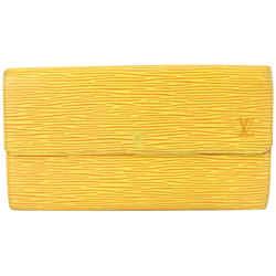 Louis Vuitton Yellow Epi Leather Porte Tresor Sarah Flap Wallet 719lvs622