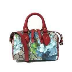 New/authentic Gucci Gg Supreme Mini Blooms Crossbody Bag