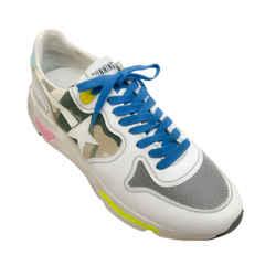 Golden Goose Deluxe Brand White / Camo Runner Sneakers