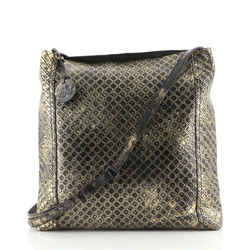 Messenger Bag Butterfly Embossed Intrecciomirage Intarsio Leather Medium