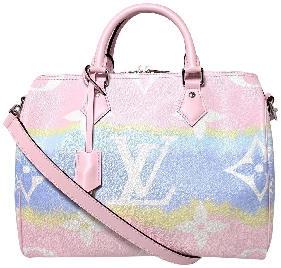 Rare Louis Vuitton Speedy Escale Bandouliere 12 Pastel Pink
