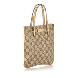 Vintage Authentic Gucci Brown Mini GG Supreme Handbag Italy
