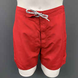 MARC by MARC JACOBS Size M Red Polyester Swim Trunks