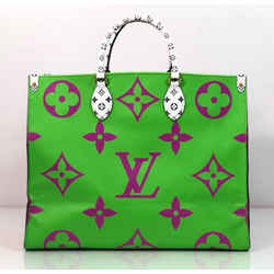 Louis Vuitton Limited Edition Giant Logo Monogram Onthego in Purple Color Block