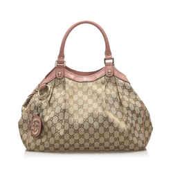 Brown Gucci GG Canvas Sukey Tote Bag