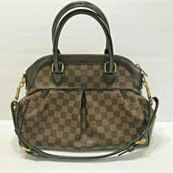Louis Vuitton Damier Ebene Canvas Leather Trevi Pm Shoulder Bag Handbag