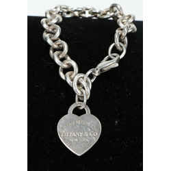 Tiffany & Co. Sterling Silver Return to Heart Tag Charm Bracelet