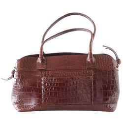 Brunello Cucinelli Bag Luxurious Exclusive Rich Brown Crocodile Tote