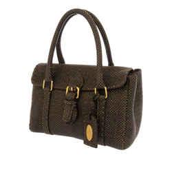 Vintage Authentic Fendi Brown Mini Selleria Linda Handbag Italy