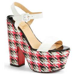 Christian Louboutin Bella White Platform Ankel Strap Sandal Size 37.5 Nib $990