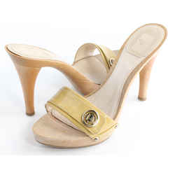 Dior Wooden Slip-On Heels