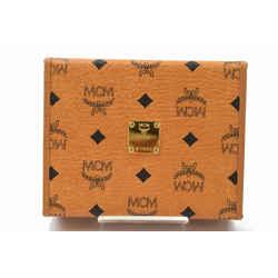 MCM Cognac Monogram Visetos Pen Hard Case Trunk Box 872767