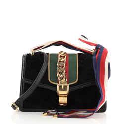 Sylvie Shoulder Bag GG Velvet Small