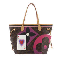 Vintage Authentic Louis Vuitton Brown Monogram Game On Neverfull MM France