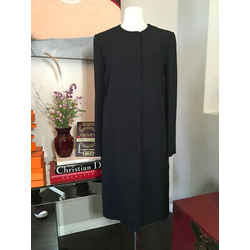 Fendi Size 42 Black Viscose Coat 369-125-8820
