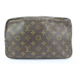 Louis Vuitton Monogram Trousse Toilette 28 Cosmetic Pouch Make Up case 11lvs113