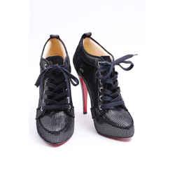 Christian Louboutin Venus Boots Black/silver Size 9.5 Authenticity Guaranteed