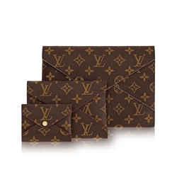 "Louis Vuitton Kirigami Set Monogram Canvas Clutch 9""l X 0.1""w X 6.5""h"