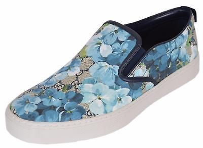 New Gucci Men's 407362 Gg Blooms Blue
