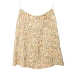 Chanel Yellow Tweed Skirt sz 6