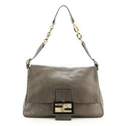 Forever Big Mama Bag Striped Leather and Suede