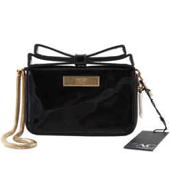 Zac Posen Milla Bow Zip Shoulder Bag Black One Size Authenticity Guaranteed