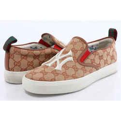 Gucci Monogram Men's Yankees Print Slip On Sneakers