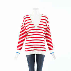 Chinti and Parker Striped Cashmere Knit Boat Sweater SZ M