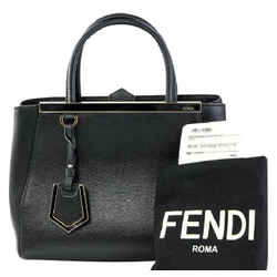 "Fendi Petite 2jours Elite' Leather Shoulder Bag 10.3""l X 4.3""h X 8.1""w"