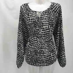 Michael Kors Black Printed Blouse 10