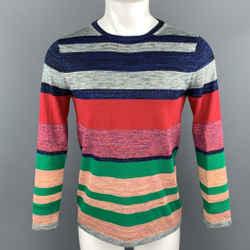 Dries Van Noten Size S Multi-color Cotton Blend Pullover