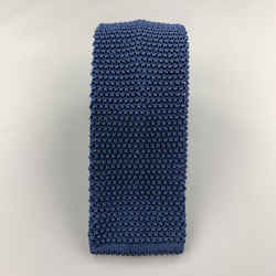Charvet Navy Blue  Silk Textured Knit Tie