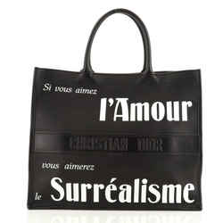 Surrealism Book Tote Printed Leather