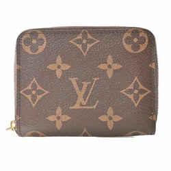 Auth Louis Vuitton Louis Vuitton Monogram Zippy Coin Purse Wallet Brown Pvc