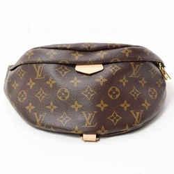 Auth Louis Vuitton Monogram Bum Bag Waist Body Leather