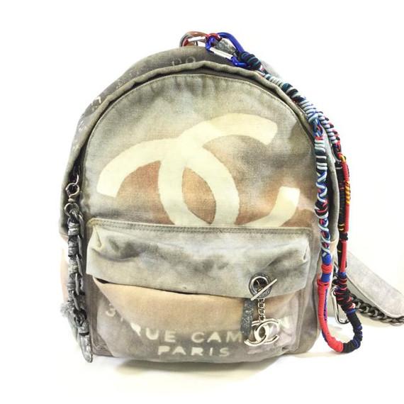 Chanel Graffiti Art Etoile Canvas Backpack Leprix
